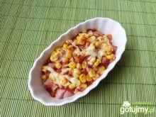 Parówki cielęce zapiekane z kukurydzą