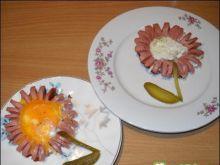 Parówki kwiatki czyli wiosna na talerzu