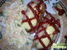 Parówki nadziane cebulką i serem