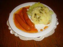 Parowki w sosie pomidorowym