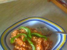 Parówki z ryżem i warzywami