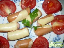 Parówki z serem