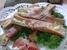 Parówki z serem otulone szynka