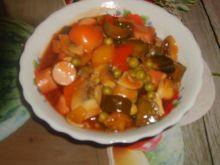 Parówki z warzywami