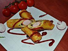 Parówkowe krokiety z pieczarkami i serem