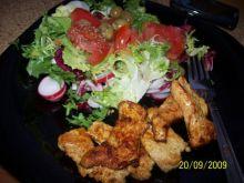 paski z kurczaka miodowo-musztardowe