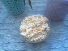 Pasta jajeczna z kukurydzą