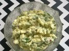 Pasta jajeczna ze szpinakiem