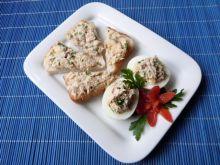 Pasta z wędzonej makreli z jajkami