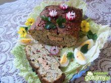 Pasztet jajeczno porowy z łososiem