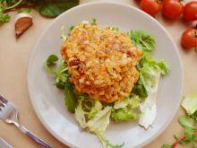 Pęczakowe kotlety z suszonymi pomidorami