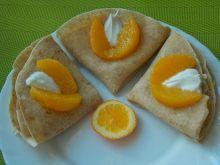 Pełnoziarniste naleśniki z pomarańczą