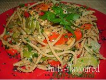 Pełnoziarniste spaghetti z fasolą