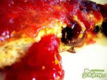 Pełnoziarnisty biszkoptowy omlet z jagod