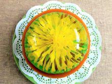 Pianka serowa z musem dyniowym i kwiatkiem 3D