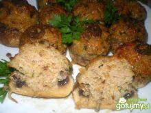 Pieczarki faszerowane mięsem i serem