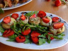 Pieczarki grillowane z serem pleśniowym