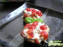 Pieczarki zapiekane z gorgonzolą