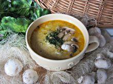 Zupa pieczarkowa z kurczakiem i serem