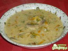 Pieczarkowa zupa z koperkiem