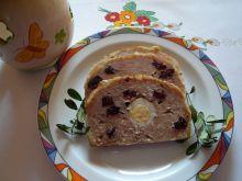 Pieczeń drobiowa z żurawiną i przepiórczymi jajami