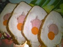 Pieczeń schabowa z kielbasą i marchewką