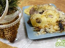 Pieczona karkówka ananasowo-kapuściana