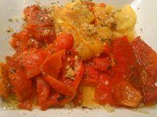 Pieczona papryka w oleju z miodem i czosnkiem