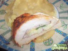 Pieczona pierś z kurczaka z serem