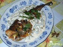 Pieczona ryba z warzywami