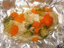 Pieczona rybka z warzywami