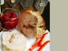 Pieczona wędlina z indyka i prażonej cebulki