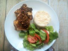 Pieczone części kurczaka