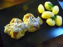 Pieczone gołąbki z sosem pieczarkowym