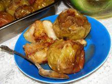 Pieczone jabłka z pomarańczą, cynamonem, miodem