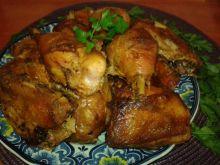 Pieczone kawałki kurczaka do obiadu