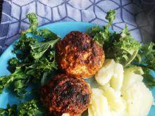 Pieczone kotleciki z mięsa z indyka