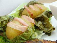 Pieczone młode ziemniaki w chrzanie