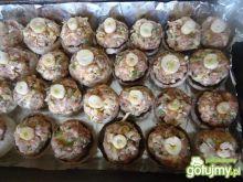 Pieczone pieczarki nadziewane mięsem