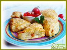 Pieczone pierogi z kurczakiem