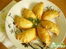 Pieczone pierogi z kurkami
