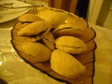 Pieczone pierożki z pieczarkami