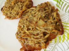 Pieczone placki ziemniaczano-marchewkowe