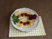 Pieczone polędwiczki z mozzarellą i żurawiną