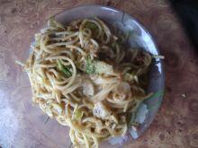 Pieczone spaghetii