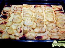 Pieczone talarki ziemniaków