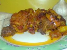Pieczone udka musztardowe w ostrym sosie