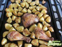 pieczone udka z ziemniakami