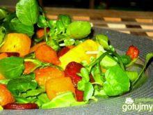 Pieczone warzywa w duecie z rukwią wodną