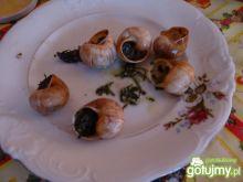 Pieczone winniczki w muszlach